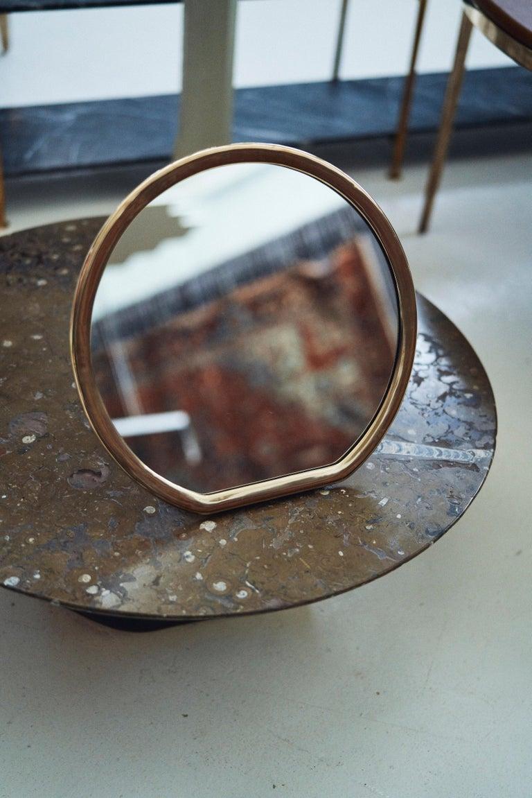 Barbera 'Bronze' Makeup Mirror, Cast Solid Bronze In New Condition For Sale In Melbourne, Victoria