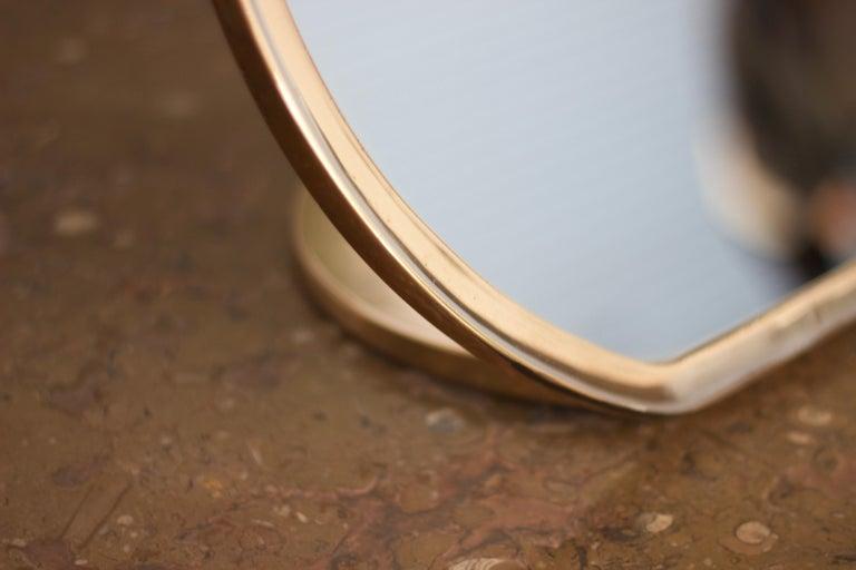 Barbera 'Bronze' Makeup Mirror, Cast Solid Bronze For Sale 1