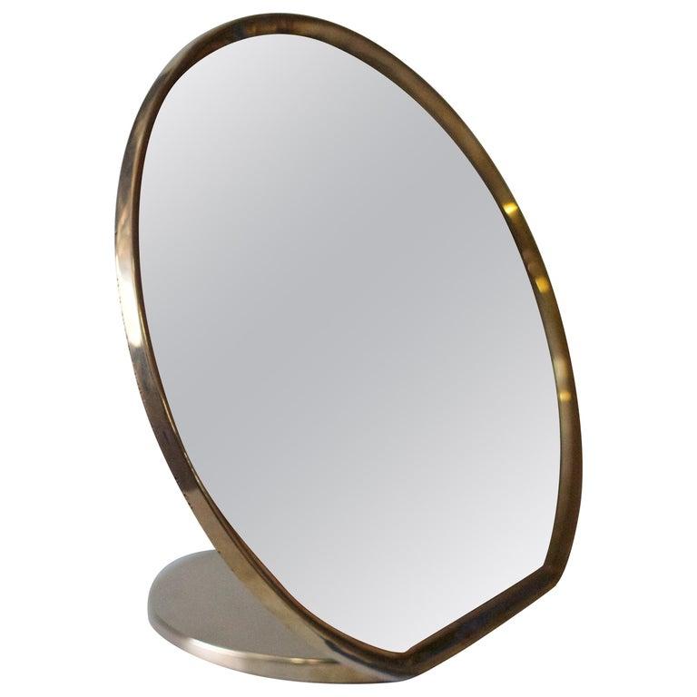 Barbera 'Bronze' Makeup Mirror, Cast Solid Bronze For Sale