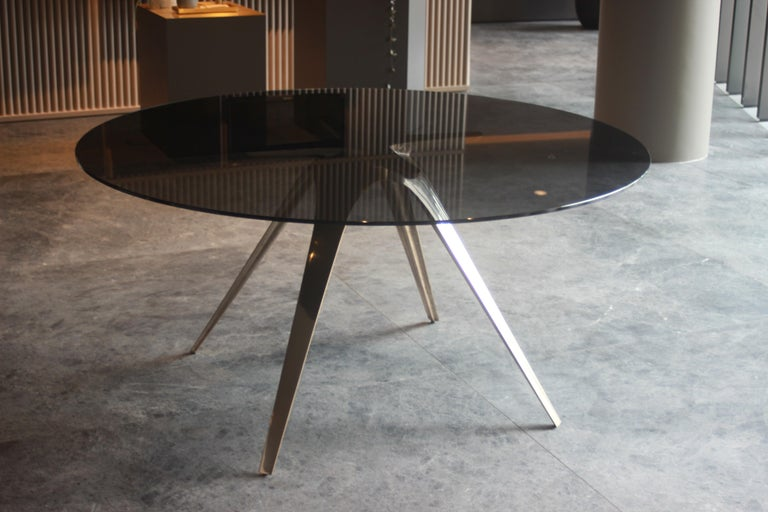 Designed by Daniel Barbera the Spargere table inspired by organism evolution, and how nature uses minimum form yet can create super strong structures. The four legged sandcast solid bronze organic form is hand finished to a smooth mirror polish,
