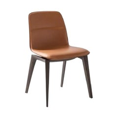 Molteni&C Barbican Chair Rodolfo Dordoni Design Brown Leather