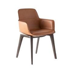 Molteni&C Barbican Armchair Rodolfo Dordoni Design Brown Leather