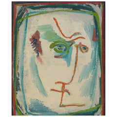 Barbier, Self Portait, Oil on Canvas, Framed, Signed and Dated 1978