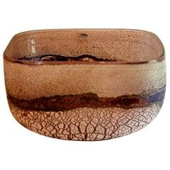 Barbini Murano Scavo Bowl