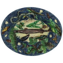Barbizet Palissy Majolica Palissy Fish Platter