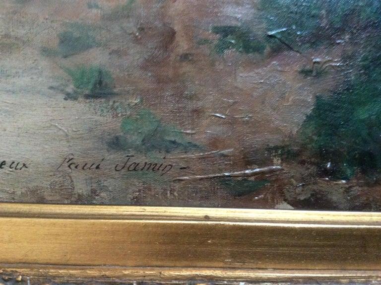 Late 19th Century Barbizon School 2 Reading Girls in Landscape For Sale