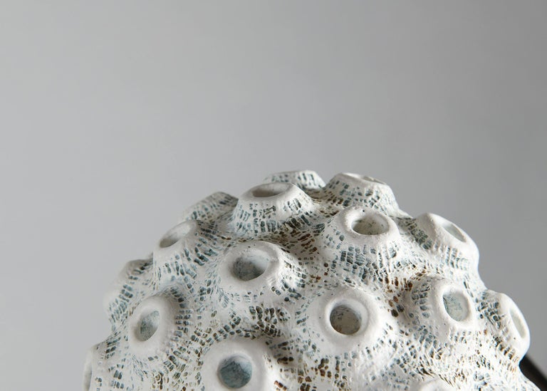Barbro Åberg 'Crater Orb,' Contemporary Stoneware Sculpture, Denmark, 2019 In Excellent Condition For Sale In New York, NY