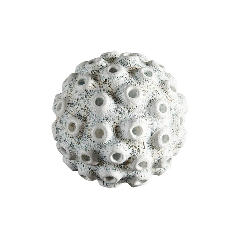 Barbro Åberg 'Crater Orb,' Contemporary Stoneware Sculpture, Denmark, 2019 For Sale