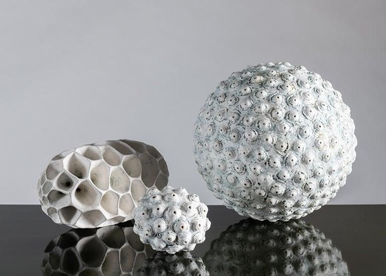 Ceramic Barbro Åberg 'Orb,' Contemporary Stoneware Sculpture, Denmark, 2019 For Sale