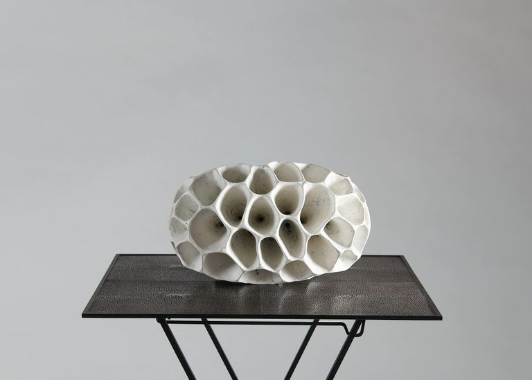 Danish Barbro Åberg 'Speaker,' Contemporary Stoneware Sculpture, Denmark, 2019 For Sale