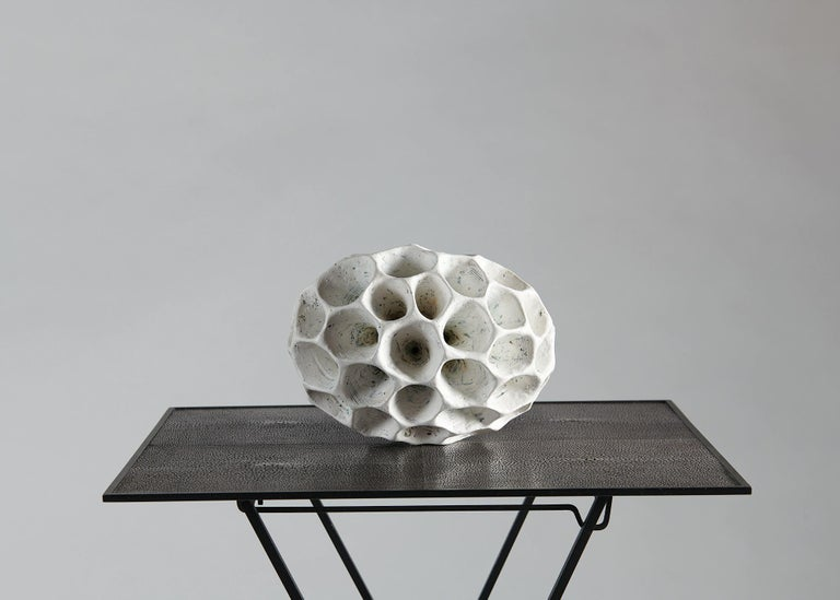 Danish Barbro Åberg 'Speaker,' Contemporary Stoneware Sculpture, Denmark, 2019 For Sale