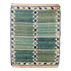 Barbro Nilsson, Sweden, Handwoven Wall Rug of Wool, 1940s