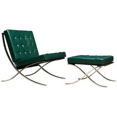 Barcelona Chair and Ottoman, Ludwig Mies van del Rohe, 1960s