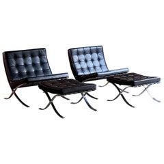 Barcelona Chairs & Stools by Knoll Studio Mies van der Rohe, USA, circa 2014