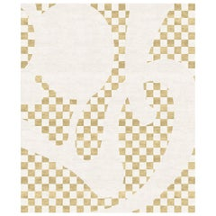 Barcelona Chequers Hand-Knotted Wool and Silk 2.7 x 3.6m Rug
