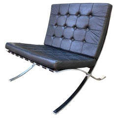 Barcelona Style Leather Lounge Chair
