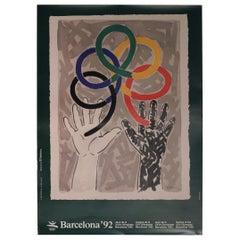 Barcelona Summer Olympic Poster 1992 by Artist Robert Llimós for the Xxv Games