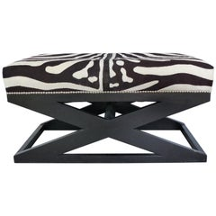 "Barclay Butera Home ""Bel Air"" Ottoman with Zebra Print Upholstery"