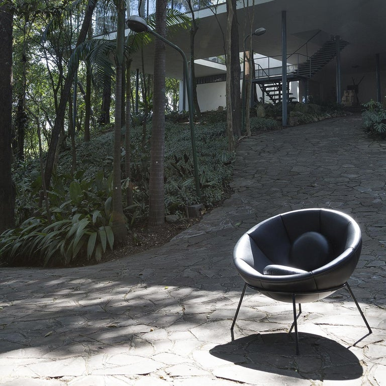 Bardi's Bowl Chair Black Leather In New Condition For Sale In Milan, IT