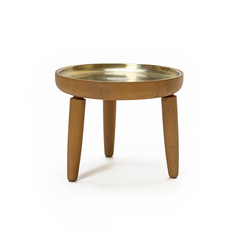 Bare Plant Stand Solid Wood Plant Stand With Cast Bronze Tray