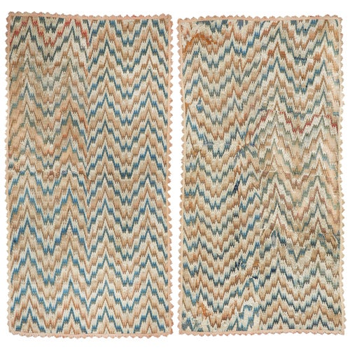 Bargello Flamestitch Silk Embroidery Florence Spetchley Park Bed Curtains Pair