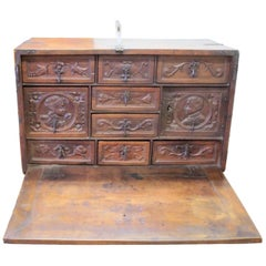 "Bargueño End of 16th Century Portugal ""Writting Desk"" with Drawers, Bargueno"