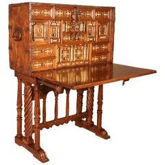 Bargueno Spanish Renaissance Cabinet, circa 1600 Walnut