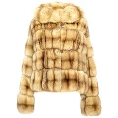 Barguzin Sable Coat with Hood