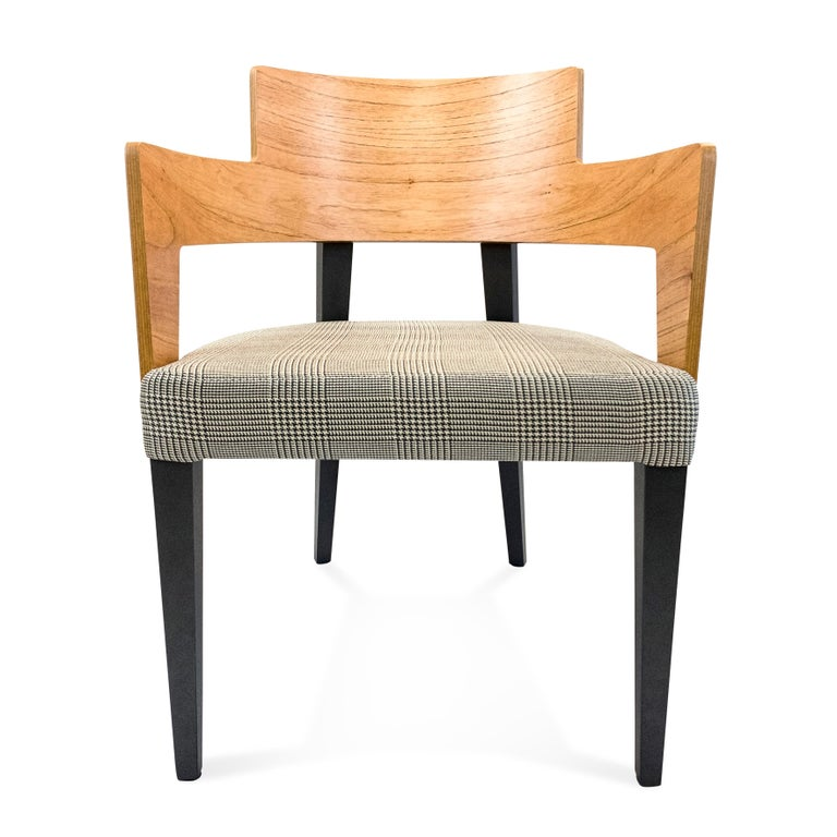 Brazilian Bark Dining Chair Featuring Chinaberry and Graphite-Finished Legs For Sale