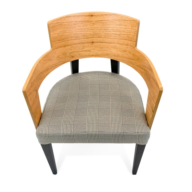 Bark Dining Chair Featuring Chinaberry and Graphite-Finished Legs In New Condition For Sale In Miami, FL