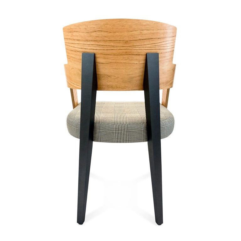 Bark Dining Chair Featuring Chinaberry and Graphite-Finished Legs For Sale 2