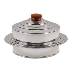 Barker Bros Art Deco EPNS Silver Plate Bakelite Box Caviar Bowl