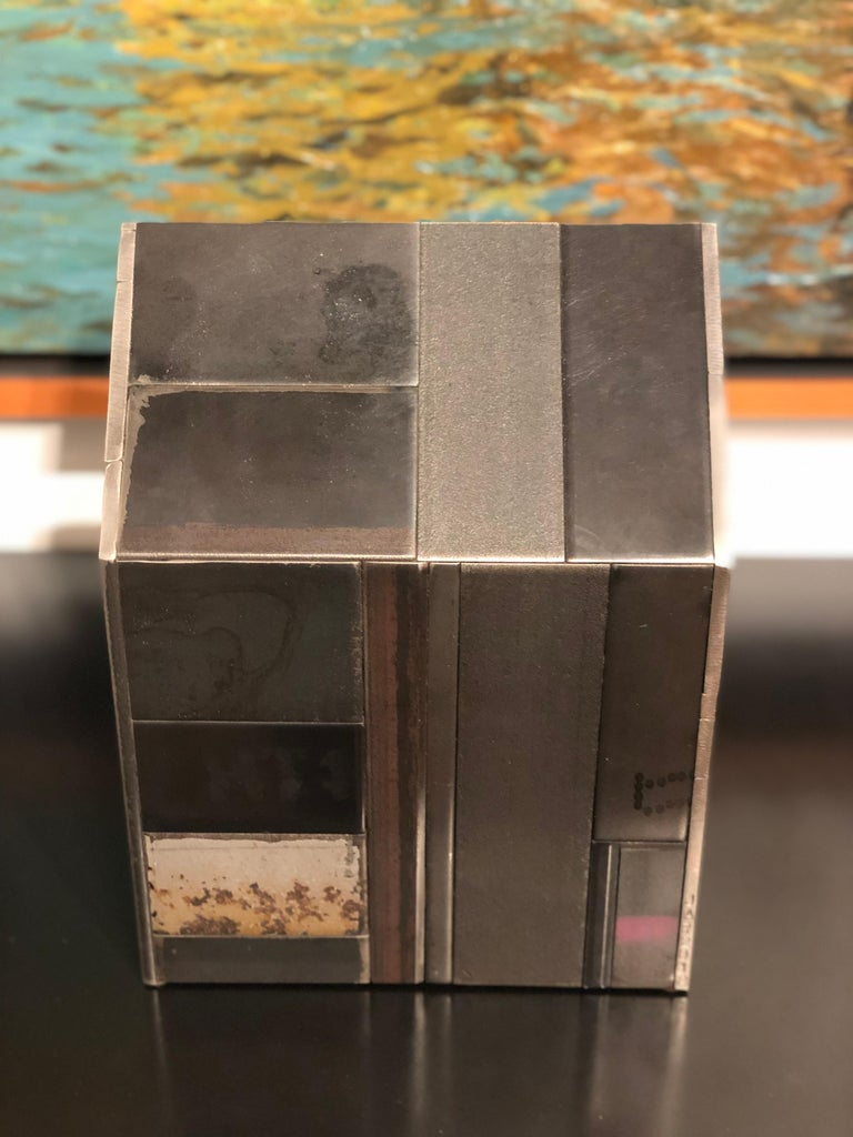American Jim Rose Barn House Structure, Welded Steel Object Made with Salvaged Steel For Sale