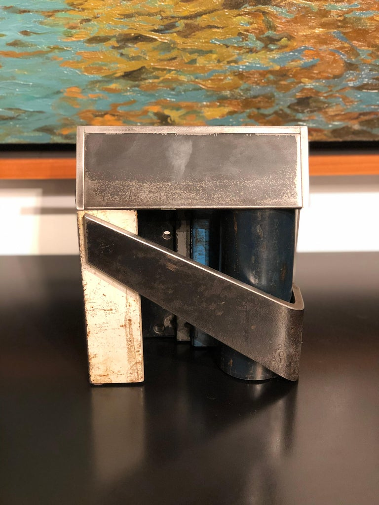 Jim Rose Barn House Structure, Welded Steel Object Made with Salvaged Steel In New Condition For Sale In Chicago, IL
