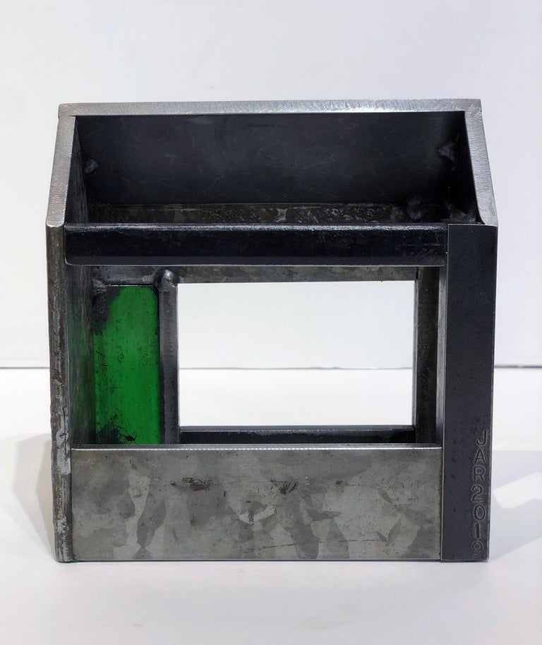 Jim Rose Barn House Structure, Welded Steel Object Made with Salvaged Steel For Sale 1