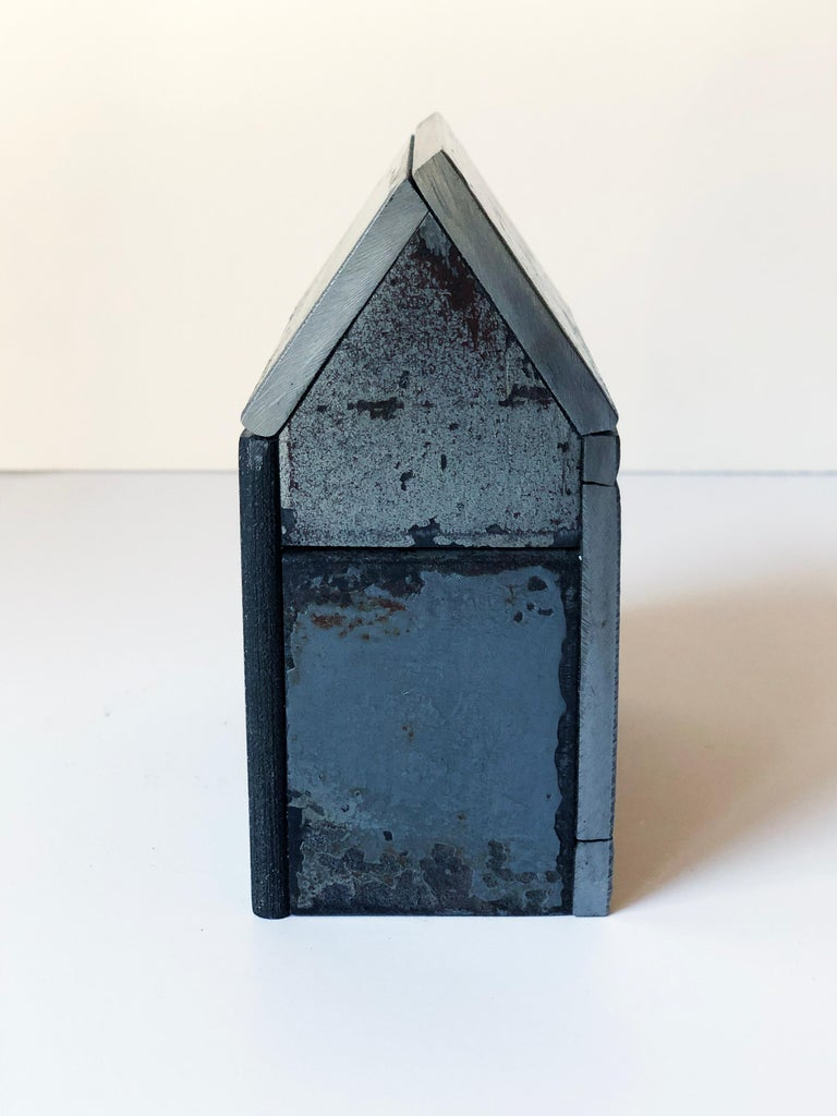 Jim Rose Barn House Structure, Welded Steel Sculpture Made with Salvaged Steel For Sale 3