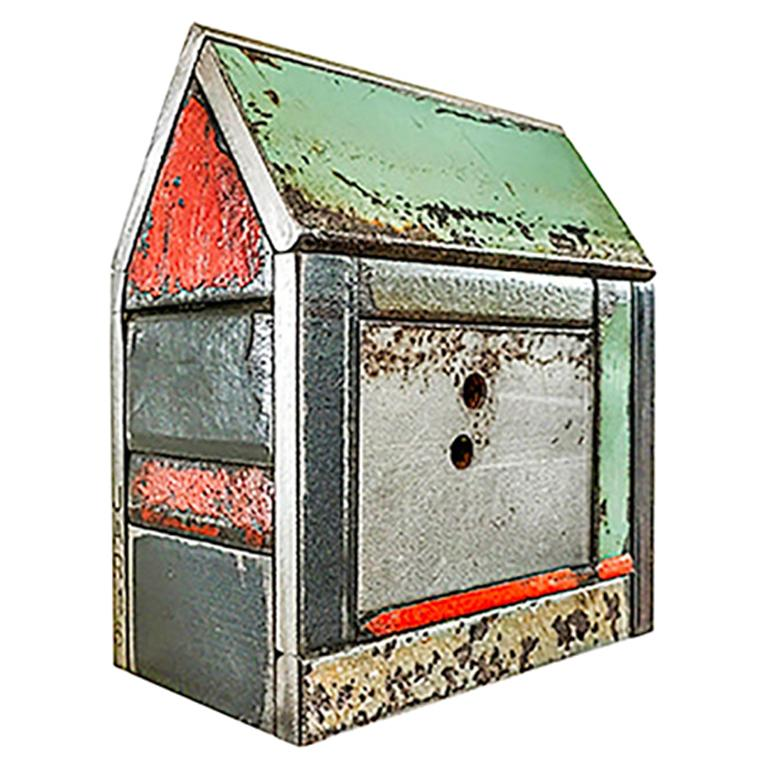 Jim Rose Barn House Structure, Welded Steel Sculpture Made with Salvaged Steel For Sale