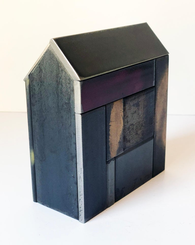 Jim Rose Barn House Structure, Welded Steel Sculpture Made with Salvaged Steel In New Condition For Sale In Chicago, IL