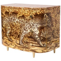 """Barnaba Fornasetti Curved """"Leopardo"""" Commode with Three Drawers, Italy, 2017"""