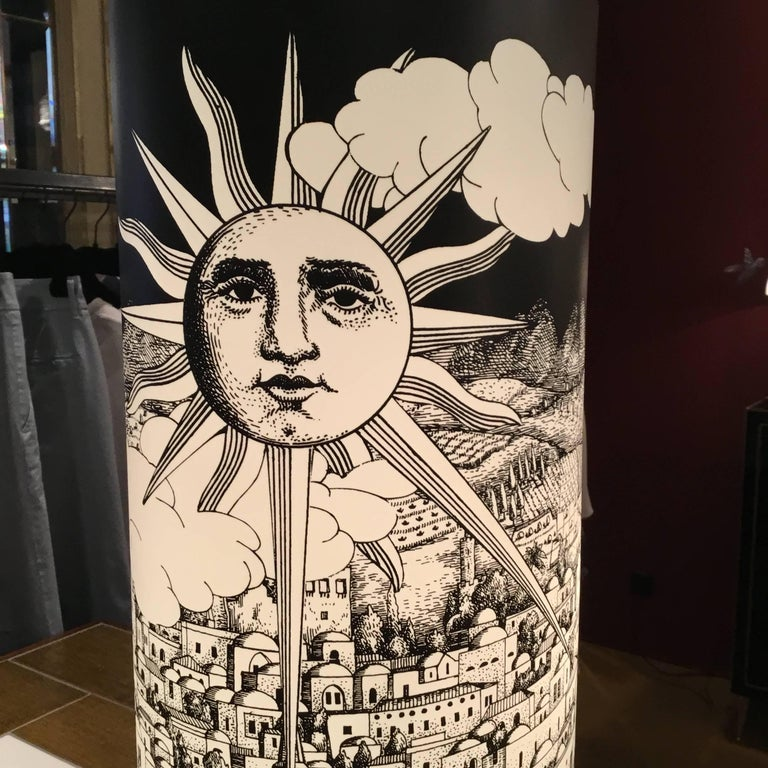 Barnaba Fornasetti Table Lamp for Antonangeli In Excellent Condition For Sale In Pambio Noranco, CH