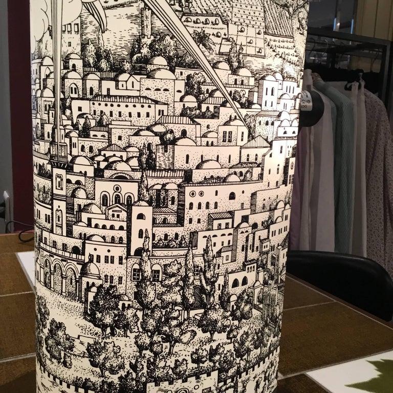 Late 20th Century Barnaba Fornasetti Table Lamp for Antonangeli For Sale
