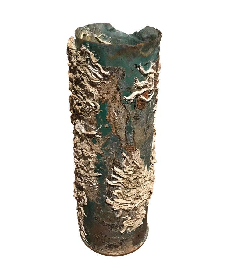 Italian Barnacle Bronze Vases, Italy, 19th Century For Sale