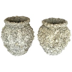 Barnacle Encrusted Ceramic Urns