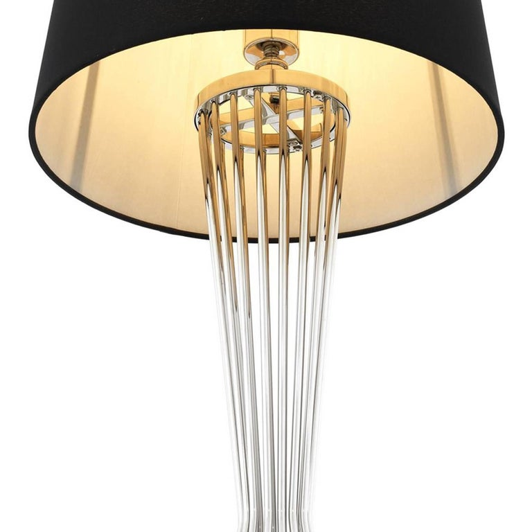 Barnet Table Lamp in Gold or Nickel Finish For Sale 3