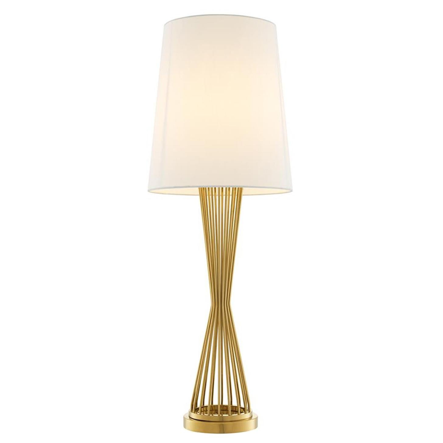 Barnet Table Lamp in Gold or Nickel Finish