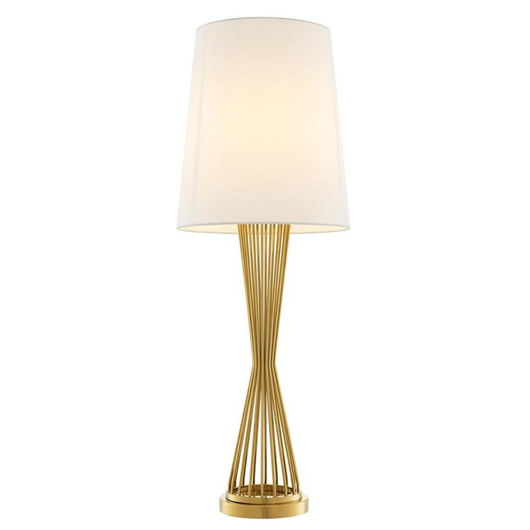 Barnet Table Lamp in Gold or Nickel Finish For Sale