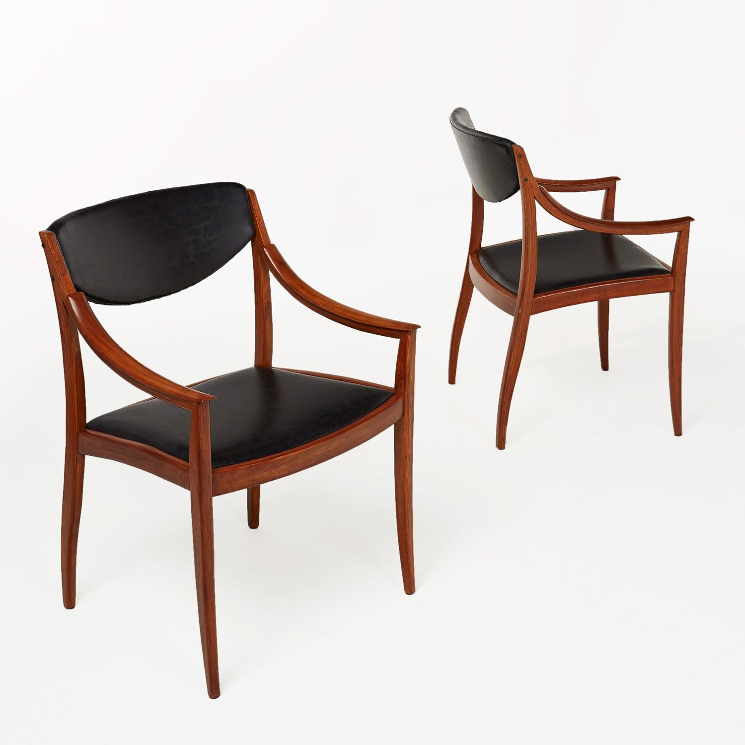 Beau Barney Flagg For Drexel Parallel Dining Chairs