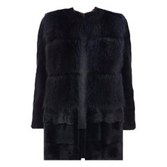 Barneys New York Mink and Raccoon Fur Coat