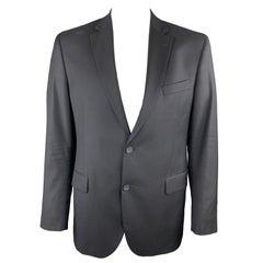 BARNEYS NEW YORK Size 42 Regular Black Wool Notch Lapel Sport Coat