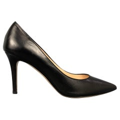 BARNEY'S NEW YORK Size 8.5 Black Leather Pointed Toe Classic Pumps